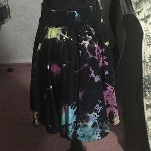 Killstar Rainbow Tie-Dye Skater Skirt